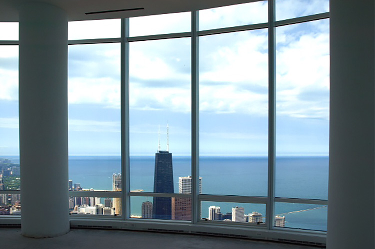 The view from the Trump Tower penthouse in Chicago