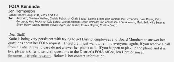 Katie drews foia streamwood park district