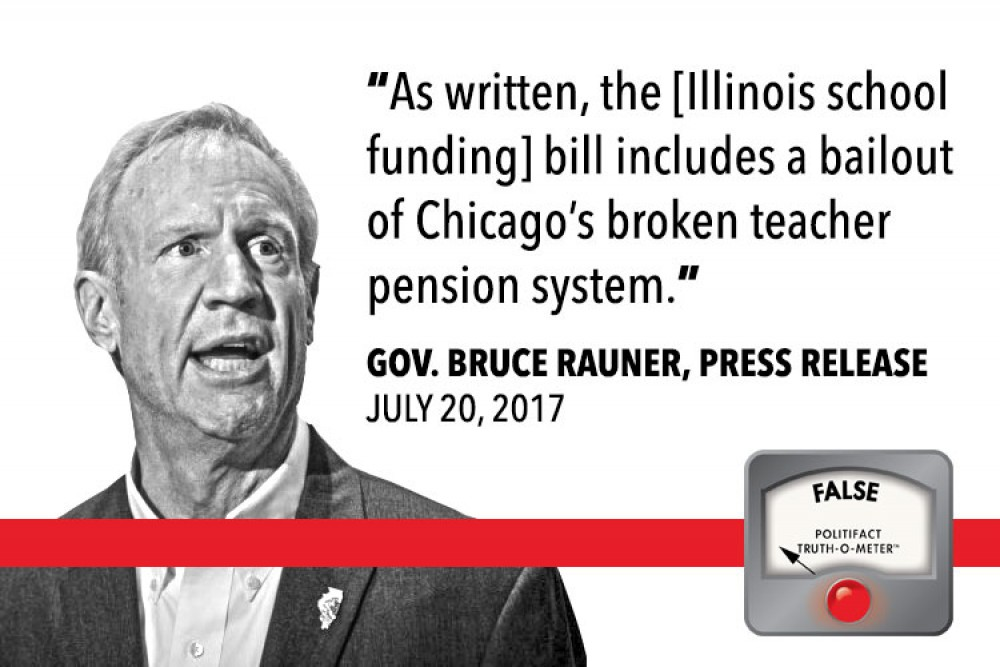 Fact Check Does The Proposed Illinois School Funding Bill Bail Out