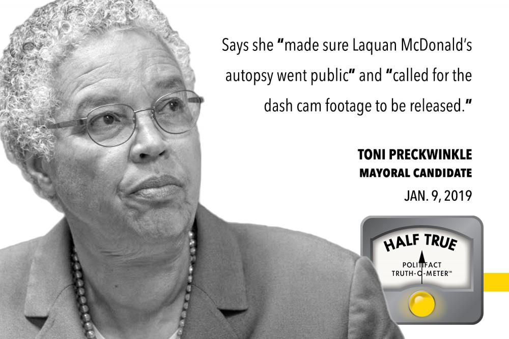 Fact Check Preckwinkle Inflates Role In Shedding Light On Mcdonald